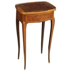 20th Century Inlaid Wood French Side Table Dressing Table, 1920