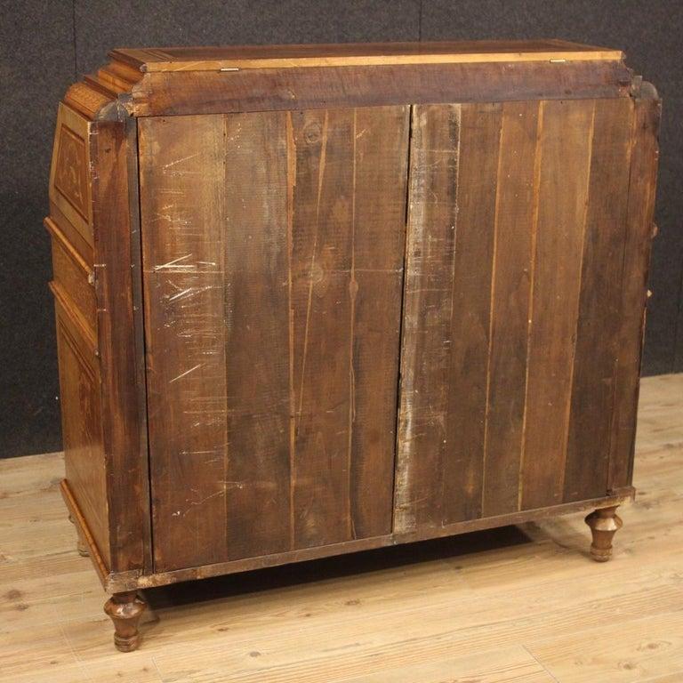20th Century Inlaid Wood Italian Louis XVI Maggiolini Style Bureau Desk, 1960 For Sale 5