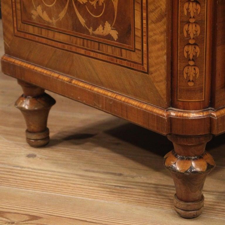 20th Century Inlaid Wood Italian Louis XVI Maggiolini Style Bureau Desk, 1960 For Sale 2
