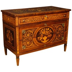 20th Century Inlaid Wood Italian Louis XVI Style Dresser, 1950