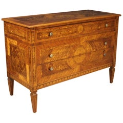 20th Century Inlaid Wood Italian Louis XVI Style Dresser, 1960