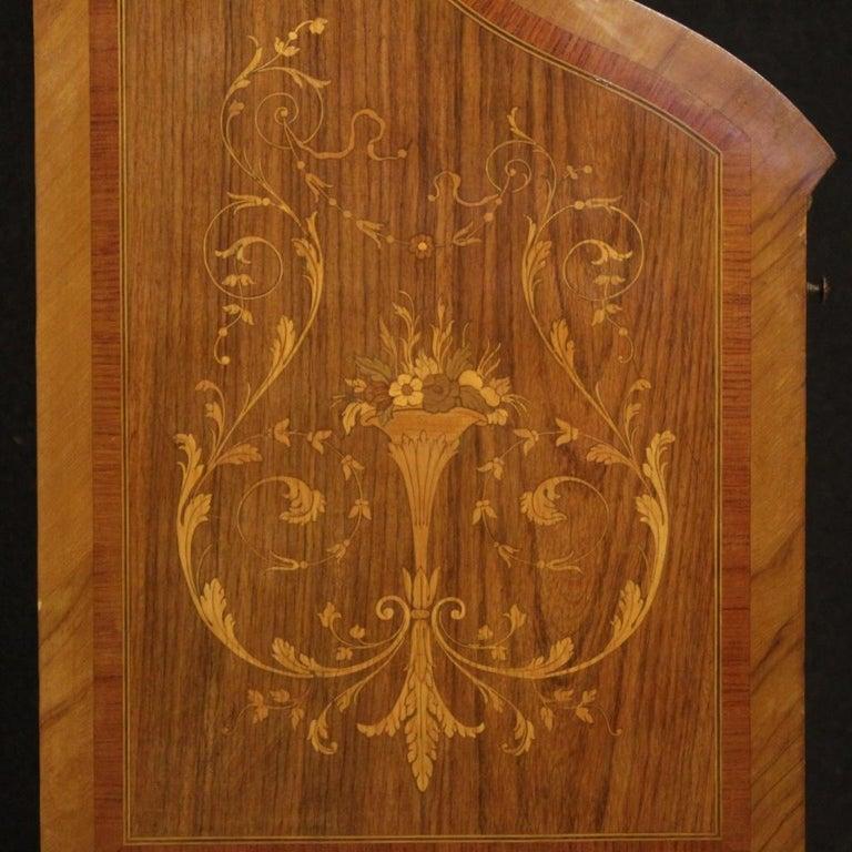 20th Century Inlaid Wood Italian Louis XVI Style Trumeau Desk, 1950 For Sale 3