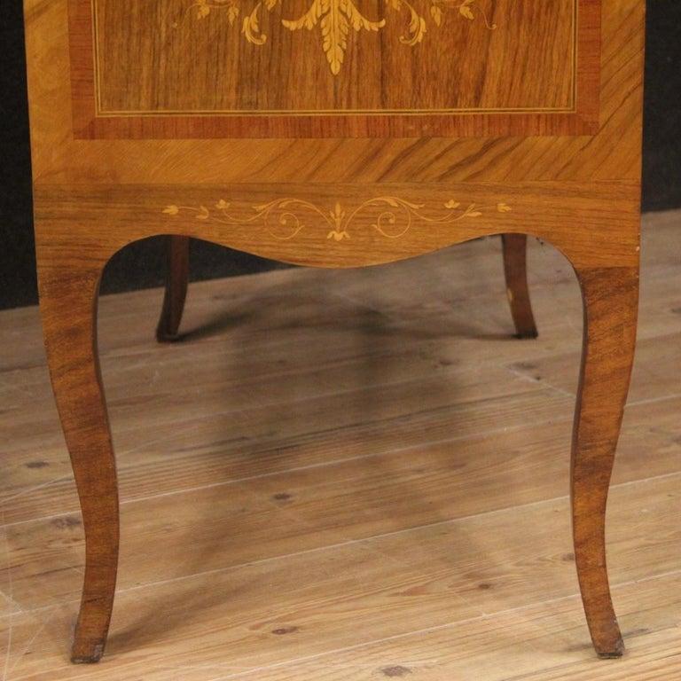 20th Century Inlaid Wood Italian Louis XVI Style Trumeau Desk, 1950 For Sale 4