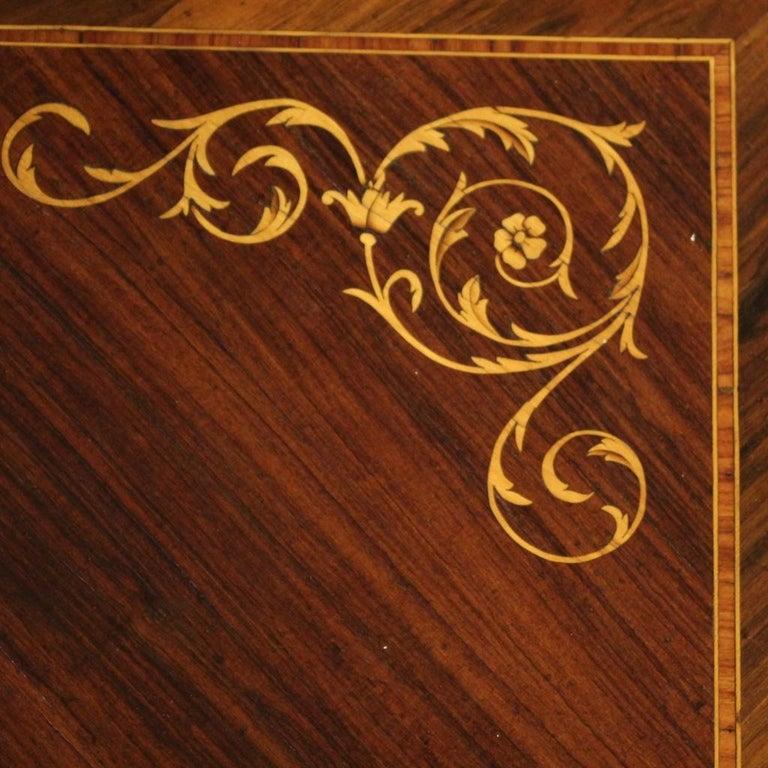 Palisander 20th Century Inlaid Wood Italian Louis XVI Style Writing Desk, 1960