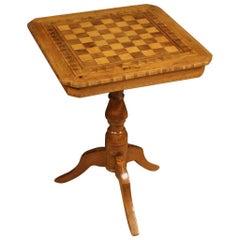 20th Century Inlaid Wood Italian Side Table, 1930
