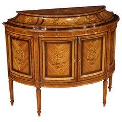 20th Century Inlaid Wood Louis XVI style French Sideboard, 1960