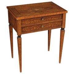 20th Century Inlaid Wood Louis XVI Style Italian Coffee Table, 1950