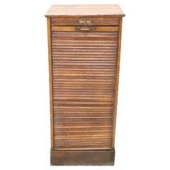 20th Century Italian Apothecary Cabinet with Handmade Sliding Shutter Door