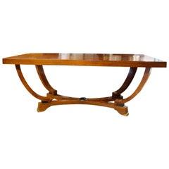 20th Century Italian Art Deco Extendable Dining Table in Walnut Wood