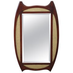 20th Century Italian Art Deco Mahogany Wall Mirror
