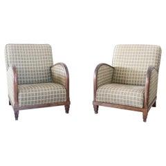 20th Century Italian Art Deco Pair of Armchairs