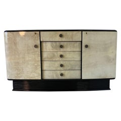 20th Century Italian Art Deco Parchment Sideboard