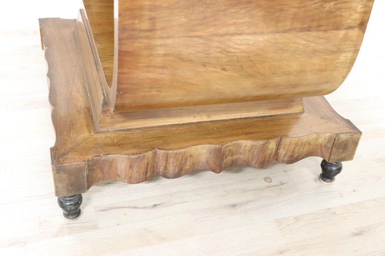 20th Century Italian Art Deco Walnut Burl Dining Table or Center Table For Sale 1