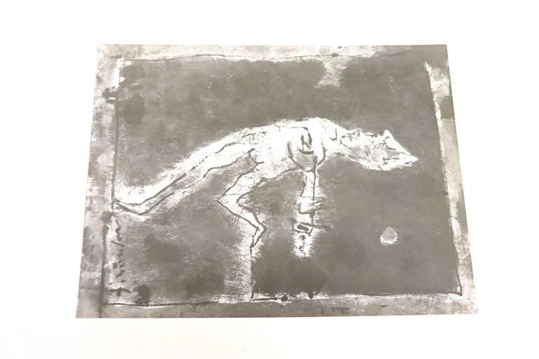 20th Century Italian Artist Tempera on Paper by Franco Rognoni In Excellent Condition For Sale In Bosco Marengo, IT