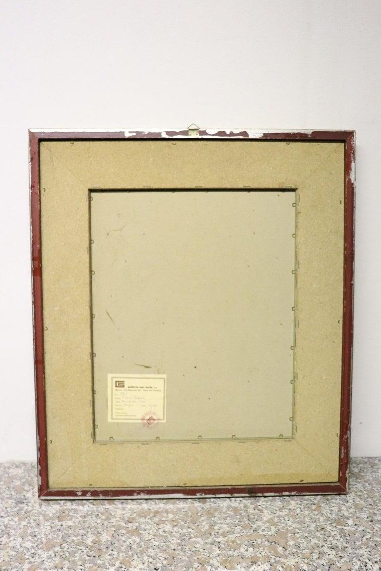 20th Century Italian Artist Tempera on Paper by Franco Rognoni For Sale 1