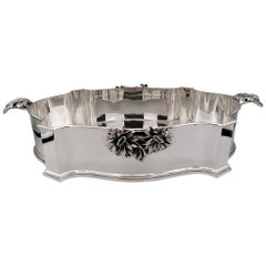 20th Century Italian Barocco Sterling Silver Centerpiece with Handles