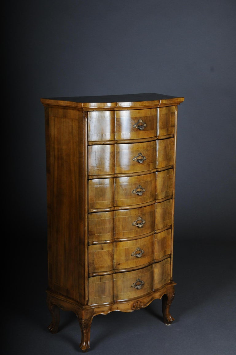 20th century Italian Baroque Chiffonniere/high chest of drawers