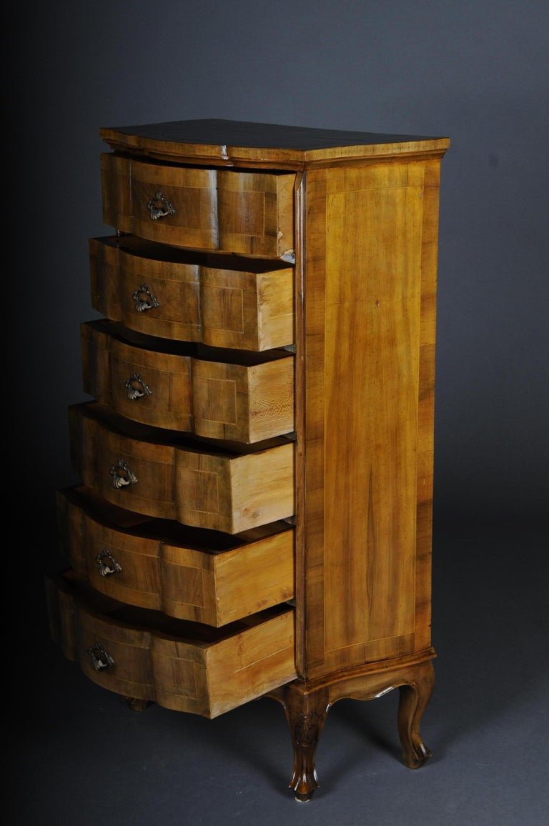 20th Century Italian Baroque Chiffonniere/High Chest of Drawers For Sale 2