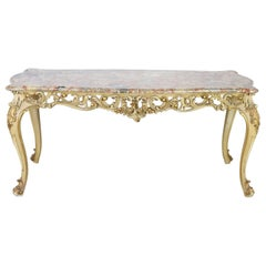 20th Century Italian Baroque Style Carved Lacquered Gilded Wood Dining Table