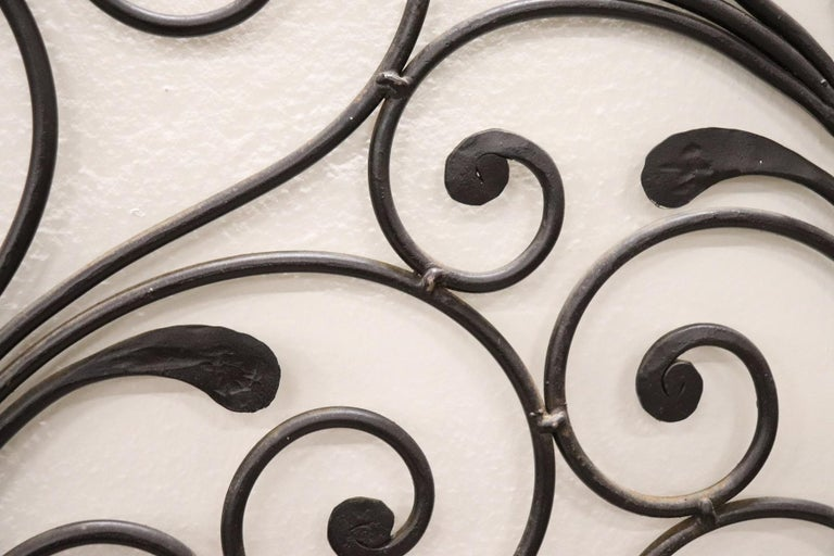 20th Century Italian Baroque Style Gilded Wrought Iron Headboard For Sale 6