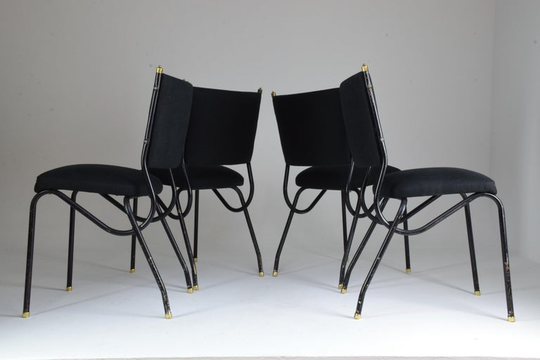 20th Century Italian BBPR Style Dining Chairs, Set of 4, 1950s For Sale 7