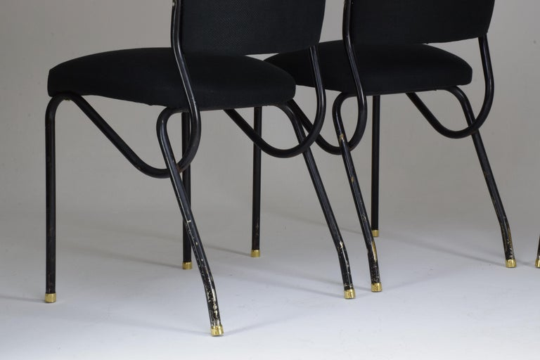 20th Century Italian BBPR Style Dining Chairs, Set of 4, 1950s For Sale 8