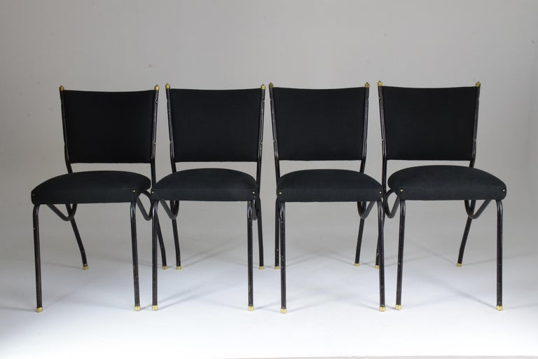 Mid-Century Modern 20th Century Italian BBPR Style Dining Chairs, Set of 4, 1950s For Sale