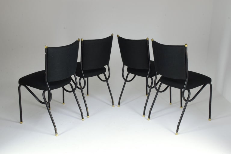 20th Century Italian BBPR Style Dining Chairs, Set of 4, 1950s In Good Condition For Sale In Paris, FR