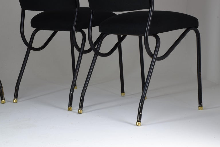 20th Century Italian BBPR Style Dining Chairs, Set of 4, 1950s For Sale 2