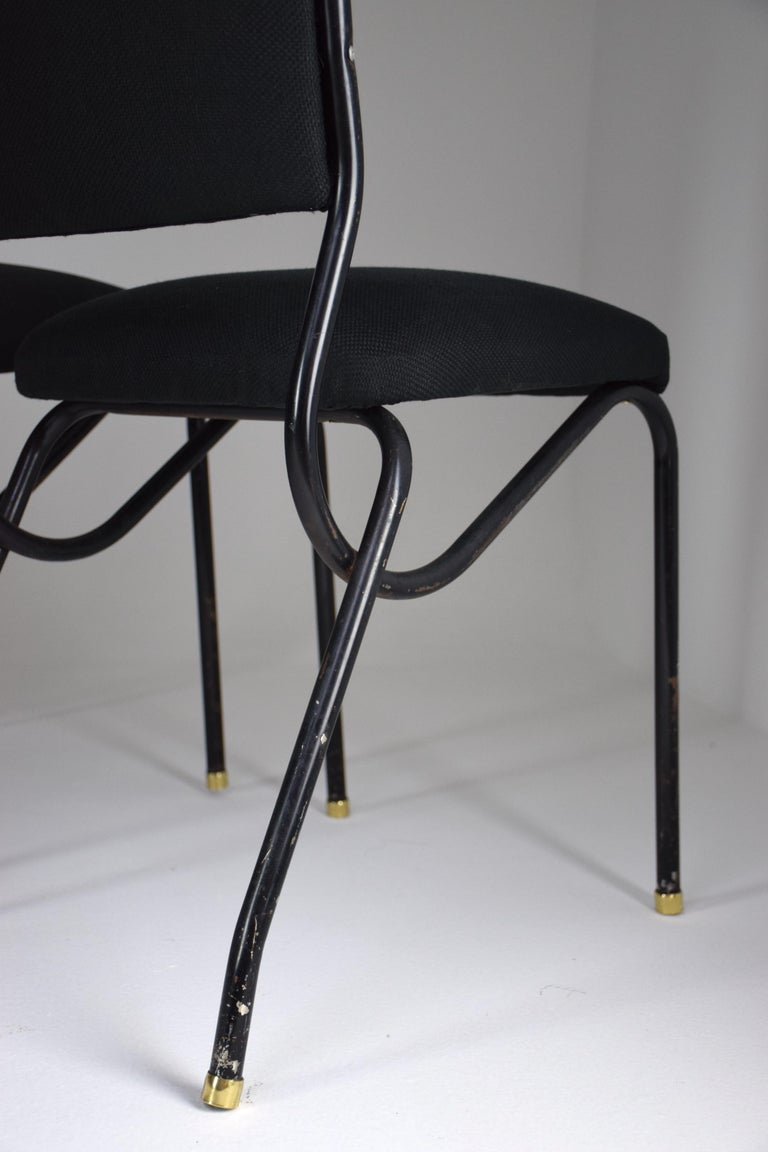 20th Century Italian BBPR Style Dining Chairs, Set of 4, 1950s For Sale 4