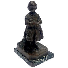 20th Century Italian Bronze Child Sculpture Dolls Bambole by Zacchetti