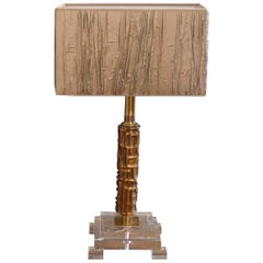 20th Century Italian Bronze Table Lamp by Luciano Frigerio