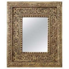 20th Century Italian Carved and Gilded Wood Wall Mirror
