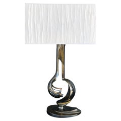 20th Century Italian Chrome Table Lamp