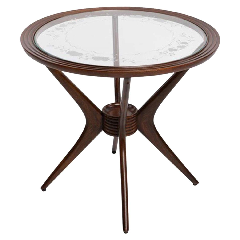 20th Century Italian Coffee Table, Rosewood Sofa, Side Table by Paolo Buffa