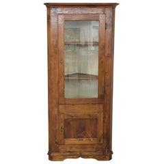 20th Century Italian Corner Cupboard or Corner Cabinet in Fir Wood