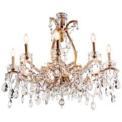20th Century Italian Crystal Chandelier Maria Theresa Ten-Light Pendant