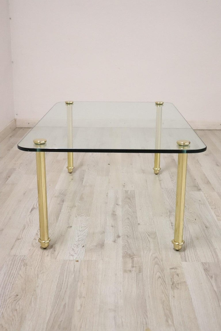 Late 20th Century 20th Century Italian Design Crystal Sofa Table or Coffee Table, 1980s For Sale