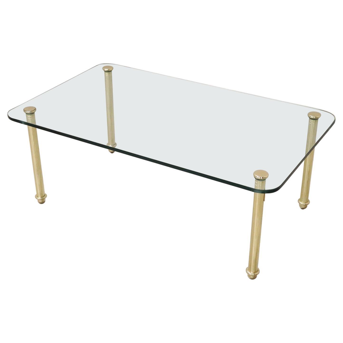 20th Century Italian Design Crystal Sofa Table or Coffee Table, 1980s