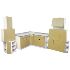 20th Century Italian Design Dining Kitchen Room Set with Table, Twelve Pieces