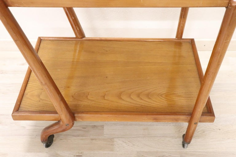 Mid-20th Century 20th Century Italian Design Drinks Trolley or Bar Cart by Paolo Buffa, 1940s For Sale