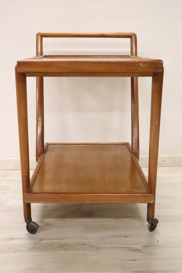 20th Century Italian Design Drinks Trolley or Bar Cart by Paolo Buffa, 1940s For Sale 2