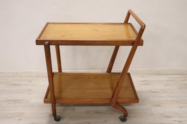 20th Century Italian Design Drinks Trolley or Bar Cart by Paolo Buffa, 1940s For Sale 4