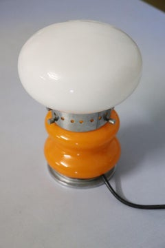20th Century Italian Design Murano Glass and Chrome Table Lamp by Mazzega, 1970s