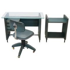 20th Century Italian Design Office Furniture Set 1950s by Umberto Mascagni