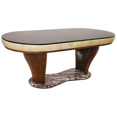 20th Century Italian Design Rare Oval Dining Table, Vittorio Dassi, 1950s