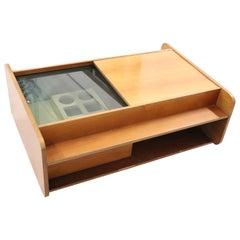 20th Century Italian Design Sofa Table with Bar Cabinet, 1960s
