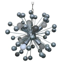 20th Century Italian Design Sputnik Chrome Chandelier, 1980s