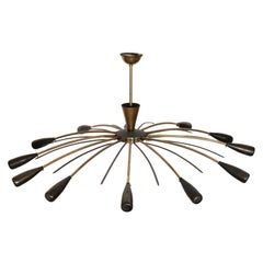 20th Century Italian Design Stilnovo Chandelier, 1950s