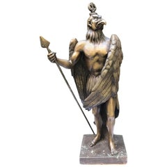 20th Century Italian Egyptian Revival Bronze Horus Sculpture